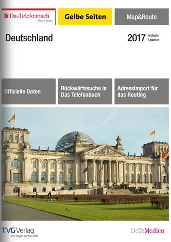 Verpackung von Das Telefonbuch Gelbe Seiten Map&Route Frühjahr/Sommer 2017 [PC-Software]