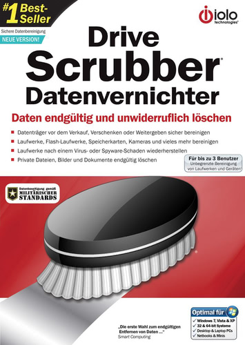 Verpackung von Drive Scrubber - Datenvernichter [PC-Software]