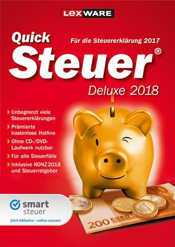 Verpackung von Lexware QuickSteuer Deluxe 2018 (FFP) [PC-Software]