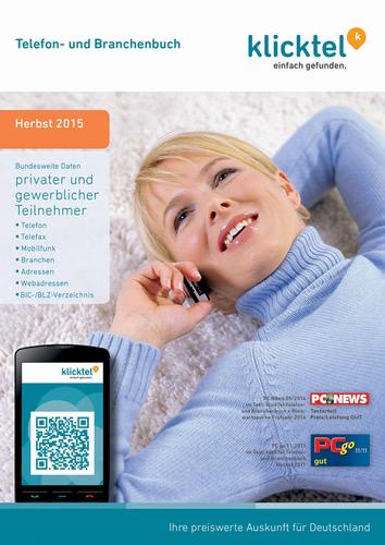 Verpackung von klickTel Telefon- und Branchenbuch Herbst 2015 [PC-Software]