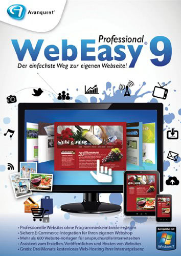 WebEasy 9 Professional, ESD (Download) (PC)
