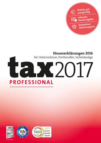 Verpackung von tax 2017 Professional (für Steuerjahr 2016) [PC-Software]