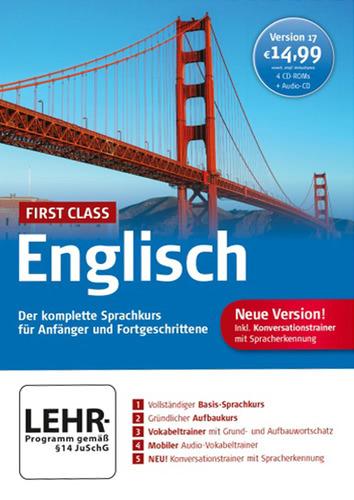 Verpackung von First Class Sprachkurs Englisch 17.0 [PC-Software]