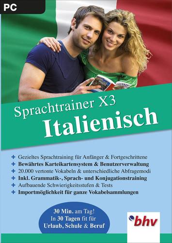 Verpackung von Sprachtrainer X3  Italienisch [PC-Software]