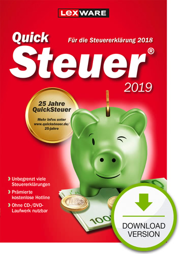 Verpackung von QuickSteuer 2019 [PC-Software]