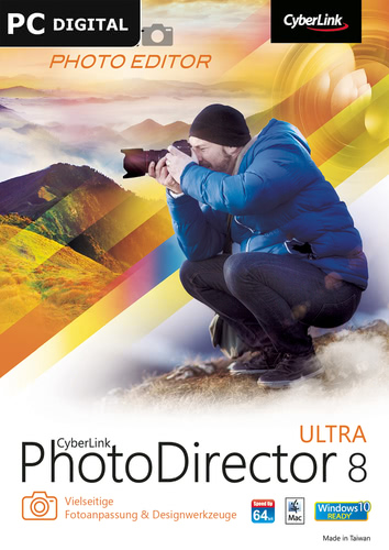 Verpackung von CyberLink PhotoDirector 8 Ultra [PC-Software]