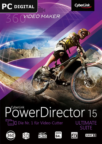 Verpackung von CyberLink PowerDirector 15 Ultimate Suite [PC-Software]