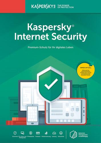 Verpackung von Kaspersky Internet Security (2019)  - 1 Gerät / 12 Monate [MULTIPLATFORM]