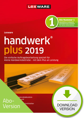Verpackung von Lexware handwerk plus 2019 Download - Abo Version [PC-Software]