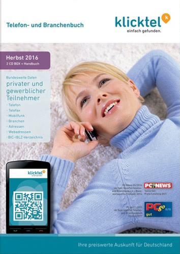Verpackung von KlickTel Telefon- und Branchenbuch Herbst 2016 [PC-Software]