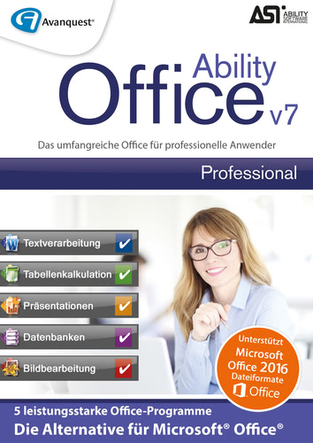 Verpackung von Ability Office 7 Professional [PC-Software]