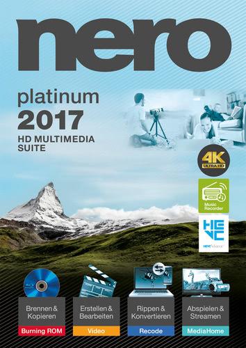 Verpackung von Nero 2017 Platinum [PC-Software]