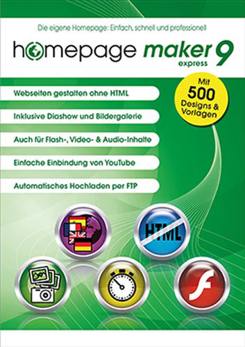 Verpackung von homepage maker 9 Express [PC-Software]