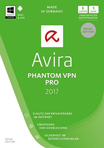 Avira Phantom VPN Pro 2017 – 1 User / 3 Geräte / 12 Monate