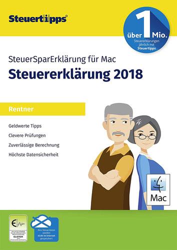 Verpackung von SteuerSparErklärung Rentner 2019 MAC (für Steuerjahr 2018) [Mac-Software]