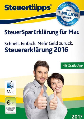 Verpackung von SteuerSparErklärung Mac 2017 (für Steuerjahr 2016) [Mac-Software]