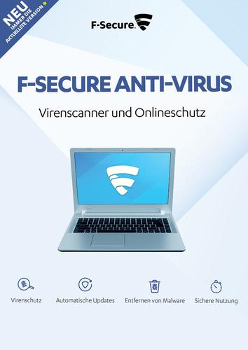 Verpackung von F-Secure Anti-Virus 2018 Upgrade auf Version 2018 3 Geräte / 12 Monate [PC-Software]