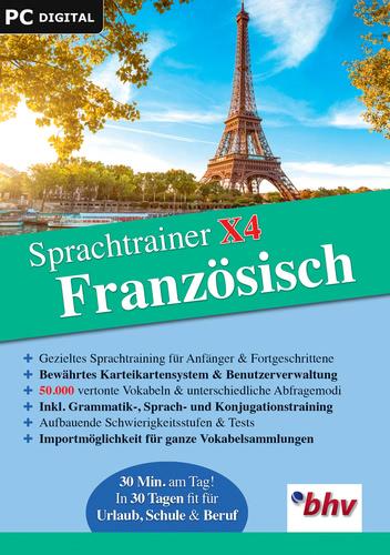Verpackung von Sprachtrainer X4 Französisch [PC-Software]
