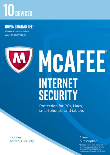 Packaging by McAfee Internet Security 2017 10 Devices / 12 Months [PC-software]