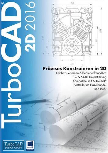 Verpackung von TurboCAD 2D 2016 [PC-Software]