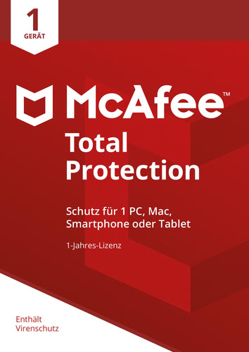 Verpackung von McAfee Total Protection 2018 1 Gerät / 12 Monate [MULTIPLATFORM]