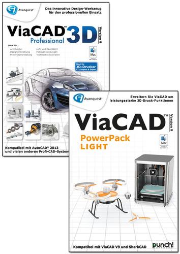 Verpackung von Avanquest ViaCAD 3D 9 Professional + PowerPack LIGHT (Mac) [Mac-Software]