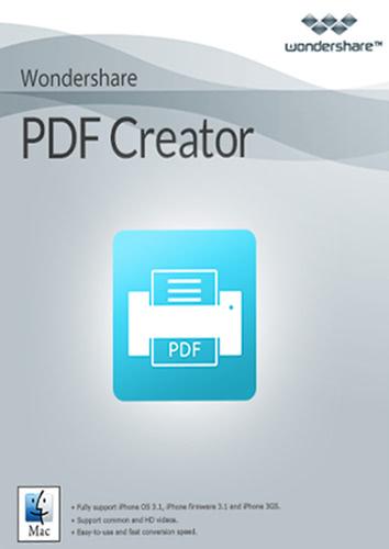 Verpackung von Wondershare PDF Creator für Mac - lebenslange Lizenz [Mac-Software]