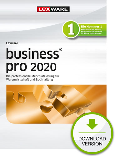 Lexware business pro 2020 – Jahresversion (365-Tage) (Download), PC