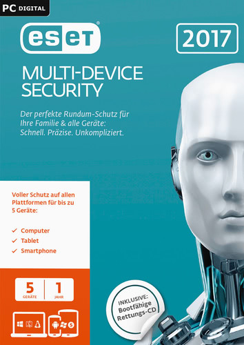 Verpackung von ESET Multi-Device Security 2017 Edition - 5 Nutzer 12 Monate [PC-Software]