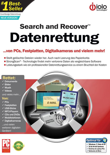 Verpackung von Search & Recover - Datenrettung [PC-Software]
