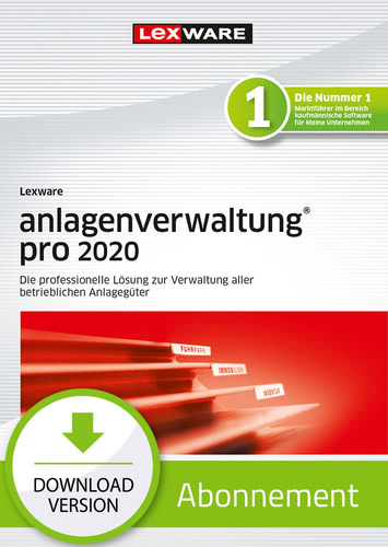 Lexware anlagenverwaltung pro 2020 – Abo Version (Download), PC
