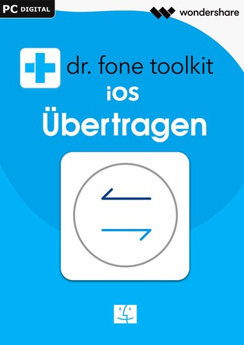 Verpackung von Wondershare Dr. Fone Mac Übertragen (Transfer) Android 5 Geräte 1 Jahr Laufzeit [Mac-Software]
