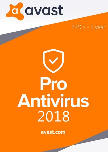 Packaging by Avast Pro Antivirus (2018) - 3 PC / 1 year [PC-software]