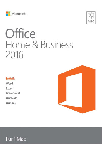Verpackung von Office Home and Business 2016 für Mac [Mac-Software]