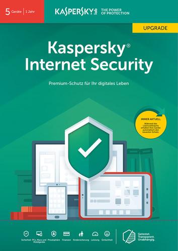 Verpackung von Kaspersky Internet Security (2019) Upgrade - 5 Geräte / 12 Monate [MULTIPLATFORM]