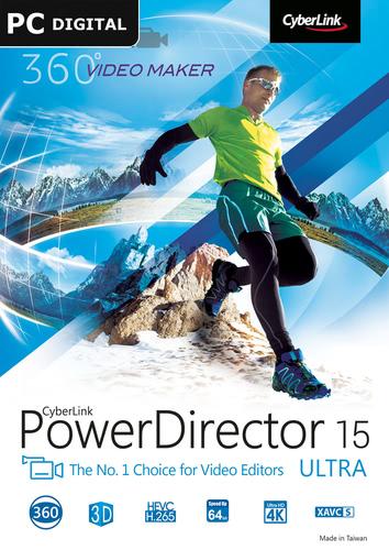 Packaging by CyberLink PowerDirector 15 Ultra [PC-software]