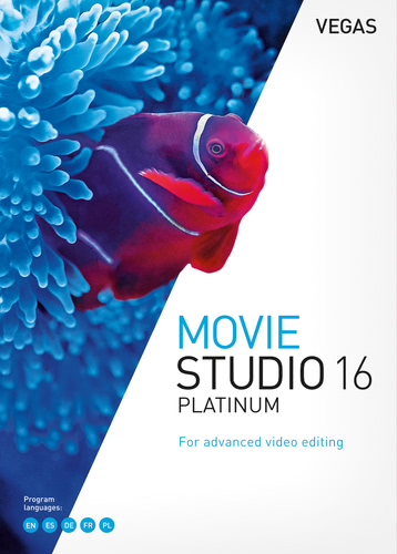 Verpackung von Vegas Movie Studio 16 Platinum [PC-Software]