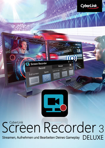 Verpackung von CyberLink Screen Recorder 3 Deluxe [PC-Software]