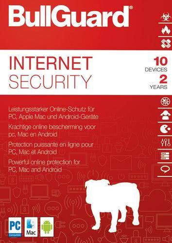 Verpackung von BullGuard Internet Security 2018 10 Geräte 24 Monate [MULTIPLATFORM]