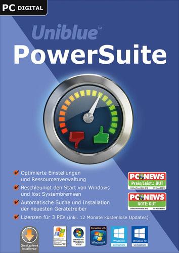 Verpackung von Uniblue PowerSuite 2016 [PC-Software]