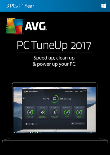 Packaging by AVG PC TuneUp 2017 3 PC / 12 Months [PC-software]