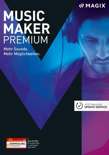 Verpackung von Magix Music Maker Premium (2017) [PC-Software]