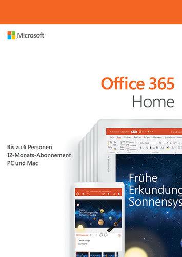 Verpackung von Office 365 Home [PC-Software]