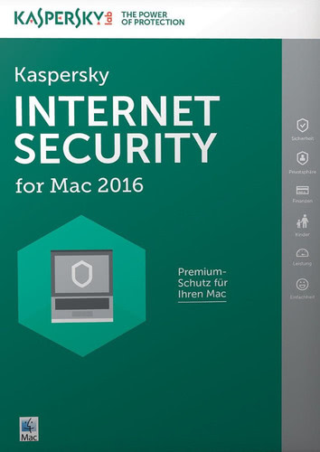 Verpackung von Kaspersky Internet Security for Mac Upgrade [Mac-Software]