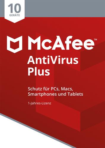Verpackung von McAfee AntiVirus Plus 2018 10 Geräte / 12 Monate [MULTIPLATFORM]