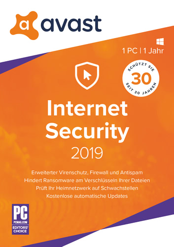 Avast Internet Security 2019- 1 PC / 1 Jahr (Download), PC