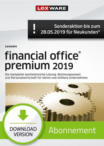 financial office Premium 2019 Abonnement (Aktionspreis) (Download), PC