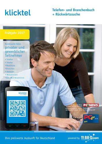 Verpackung von KlickTel Telefon- und Branchenbuch inkl. Rückwärtssuche Frühjahr 2017 [PC-Software]
