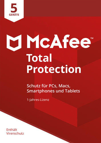 McAfee Total Protection 2018 5 Geräte / 12 Monate