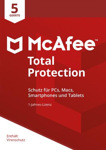Verpackung von McAfee Total Protection 2018 5 Geräte / 12 Monate [MULTIPLATFORM]